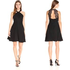 Cece black fit and flare dress.